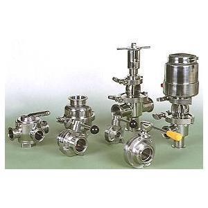 04 Sanitary Stainless Steel Valves : Butterfly Valves, Ball Valves, Plug Valves, Check Valves, Divert Valves, Shut-off Valves, Seat Valves, Pneumatic Valves, Sampling Valves, Diaphragm Valves, Tank Flush Valves